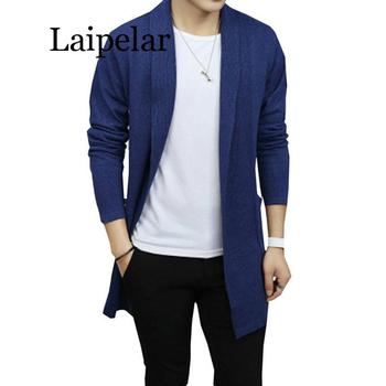 Laipelar New Men Autumn Cardigan Sweaters Male Casual Knitted Sweater Coat Solid Color Long Sleeve Slim Fit Cardigans Outerwear high quality autumn business man sweater slim fit knitting long sleeve cardigan men sweaters and casual noble male clothing