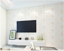 beibehang 3d European pastoral hot stamping non-woven vertical stripes wallpaper papel de parede hudas beauty behang