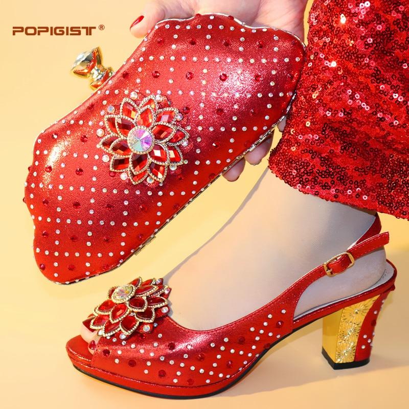Couleur Italiennes Date Talons Blue Confortable Chaussures Décoré D'été Et Strass pink royal Mode Gold Assorti red Pourpre Sac De Avec Ensemble purple rOxzwqr15