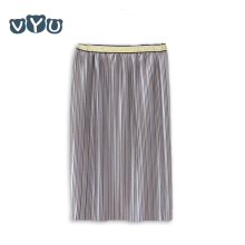 VYU Cool Girls Solid Color Pleated Skirt Summer New Style Casual Loose Children's Clothing Kids Street Tulle Skirts Candy Colors