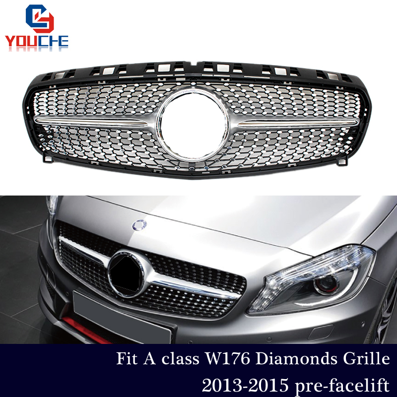 W176 Diamonds Grille For Mercedes W176 A Class 2013 2014