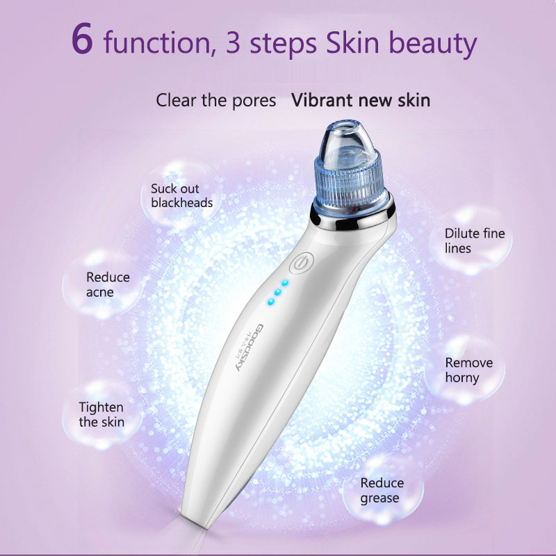 5 IN 1 Vacuum Suction Face Pores Nose Blackhead Cleaner Deadskin Peeling Removal Microdermabrasion Beauty Instruments Skin Care5 IN 1 Vacuum Suction Face Pores Nose Blackhead Cleaner Deadskin Peeling Removal Microdermabrasion Beauty Instruments Skin Care