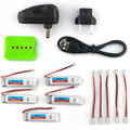 2016 New Arrival 5PCS Eachine 3.7V 200mah 30C Lipo Battery With Charger For  RC Quadcopter