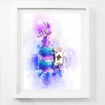 Горячая конкурентоспособная съемка игра постер лама холст искусство печать холст живопись для Xbox PS4 игровой комнаты настенный Декор