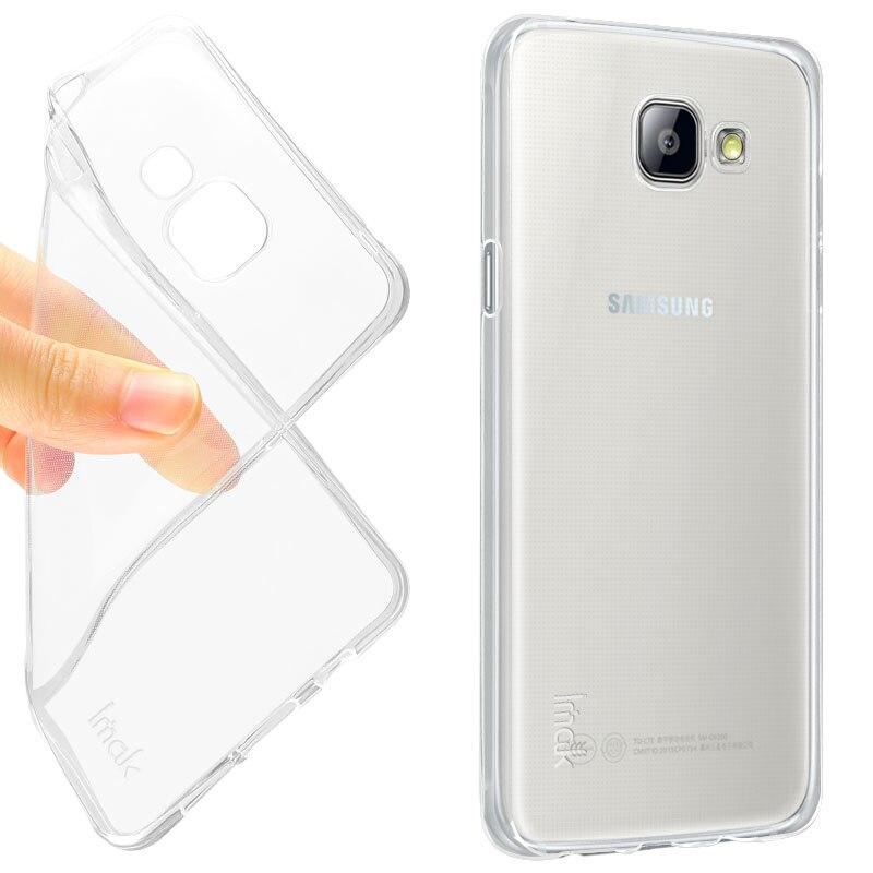 ea645b9807f Original IMAK claro caso de TPU para Samsung Galaxy A5 2016 A5100 A510F  cubierta de silicona suave Protector para Samsung Galaxy A5 2016 a510f caso  en Casos ...