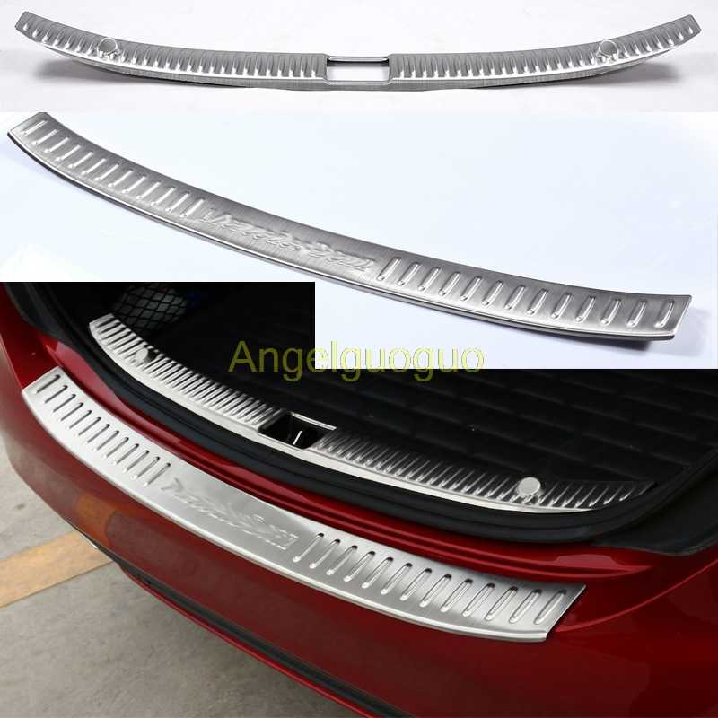 Angelguoguo Car Accessories Rear Bumper Protector Trunk Guard Sill Plate Scuff Trim for 2015-2016 Mercedes Benz C class W205