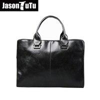 JASON TUTU Thương Hiệu Người Đàn Ông túi chất lượng Cao Leather shoulder bags cho nam giới Xách Briefcase men luật sư tập tin Crossbody bag bolsos B07