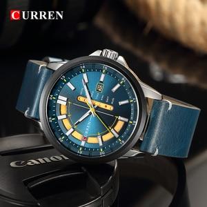 Image 5 - CURREN Montre de luxe pour hommes, Montre bracelet de sport militaire, analogique, à Quartz, affichage calendrier, décontracté
