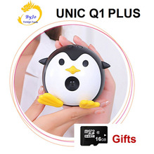 UNIC Q1+ wifi Mini Mobile Projector Handheld Micro DLP Home Theater Proyector Add 16G micro SD card gift UNIC Q1 PLUS