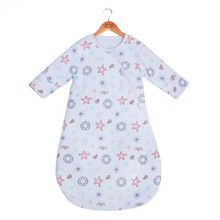 Спальный мешок с длинными рукавами для малышей; хлопковый спальный мешок; От 0 до 2 лет зимний спальный мешок для малышей