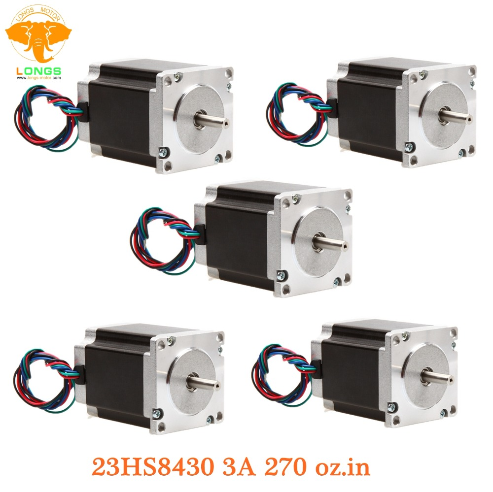 Stepper Motor 5pcs Nema 23 270 oz.in=1.9NM 23HS8430 single shaft 3A 23HS8430 SAVEBASE Home Automation CNC Stepper Motor 5pcs Nema 23 270 oz.in=1.9NM 23HS8430 single shaft 3A 23HS8430 SAVEBASE Home Automation CNC