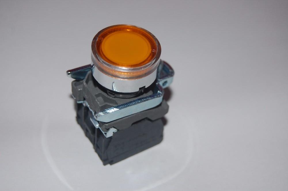 1PC 22MM White Momentary LED Illuminated pushbutton with flush push Plastic 12V