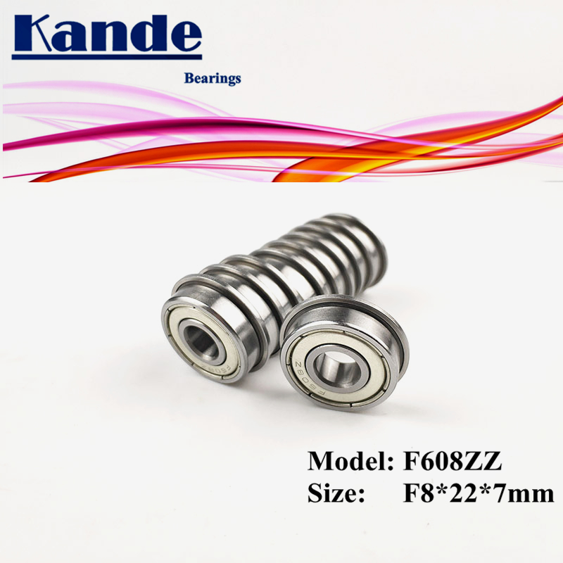 10PCS F608ZZ  F608 ZZ  With Flange Miniature Deep Groove  F608 Ball Bearing F8x22x7mm F608-2Z