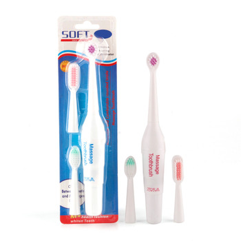 Electric Toothbrush Battery Operated with 3 Brush Heads Oral Hygiene Health Products No Rechargeable Tooth Brush Good Quality