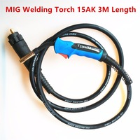 180A 15AK MIG Torch MAG Welding Gun 3M Air Cooled Euro Connector For MIG MAG Welding