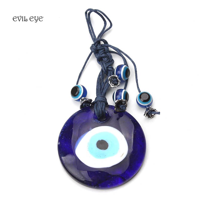 1pc Evil Eyes Braided Pendant Car Key Chain Tassel Blue Evil Eye Beads Keyring Wall Decoration Fashion Blessing Gifts