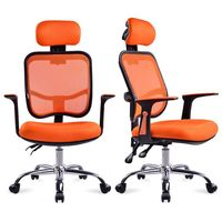 Lift Office Chair with Sponge Filler Swivel Chair Mesh Exclusive Chair with Pulley Ergonomic Computer Gaming Armchair