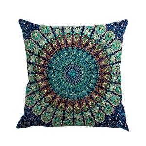 Image 4 - Разноцветная льняная наволочка с геометрическим рисунком 45 см * 45 см, удобная диванная квадратная наволочка для подушки, украшение для дома