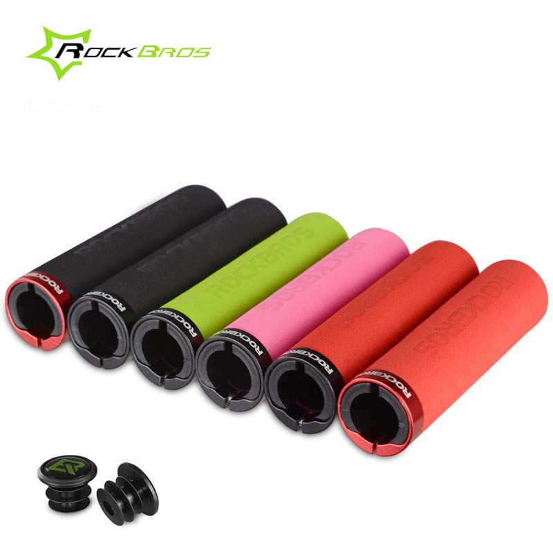RockBros Cycling Bike Bicycle Handlebar Grips Mountain Bike Smooth Grips