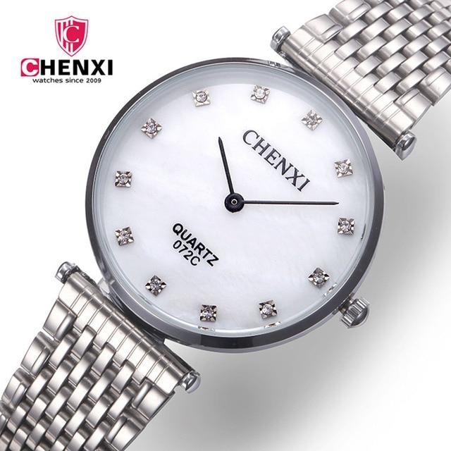 Luxury Men Women Watch Silver Stainless Steel Rhinestone Simple Minimalism Lover