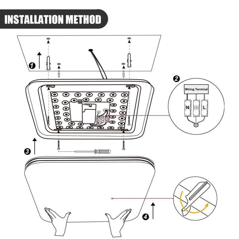 augienb modern square 16w ac110 240v 1600lm energy efficient led ceiling  lights modern flush mount fixture lamp lighting decor-in ceiling lights  from lights