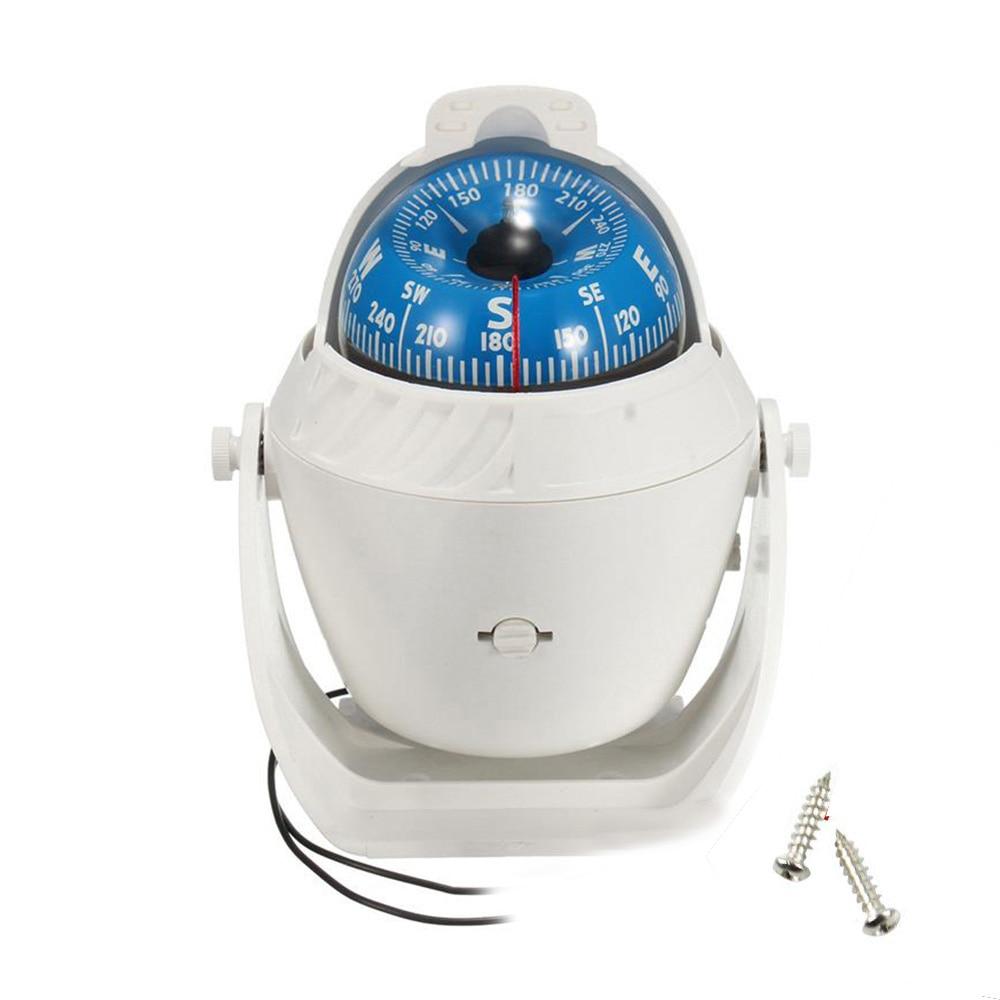 Navigation Positioning  Boat Marine Electronic Compass LED Light Pivoting Compass Digital Car Boat Pivoting Compass
