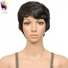 100g Full Head Afro Wig For Black Women Short Kinky Curly Hair Wig Synthetic Hair Female Full Head Wigs color 1b afro kinky curly synthetic lace front wig curly cheap long full head wigs for africa black women factory price