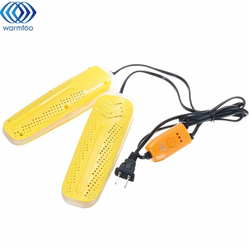 Violet Lumière Stérilisation Sèche-Chaussures Dual Core PTC Fièvre Séchage Désodorisation Calendrier Rapide Cycle Séchage 220 V Chaussures Preuve Humide