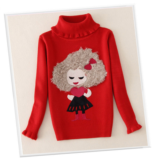 Kids Sweater Girls Warm Long Sleeve Girl Jumper Suit Autumn Winter Children Clothes SF