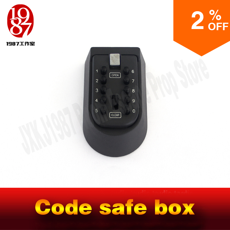 Chamber room escape prop code safe box to input the correct password to open the box  real life adventure game prop  jxkj1987 factory direct portable car safe password safe exported to the us pistol cartridge os300c