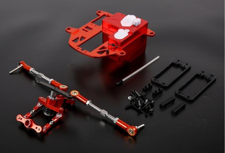 CNC Legering Symmetrische Steering Systeem met Metalen Batterij Case kit voor 1/5 HPI Rovan KM Baja 5B 5 t 5SC rc Onderdelen Upgrade