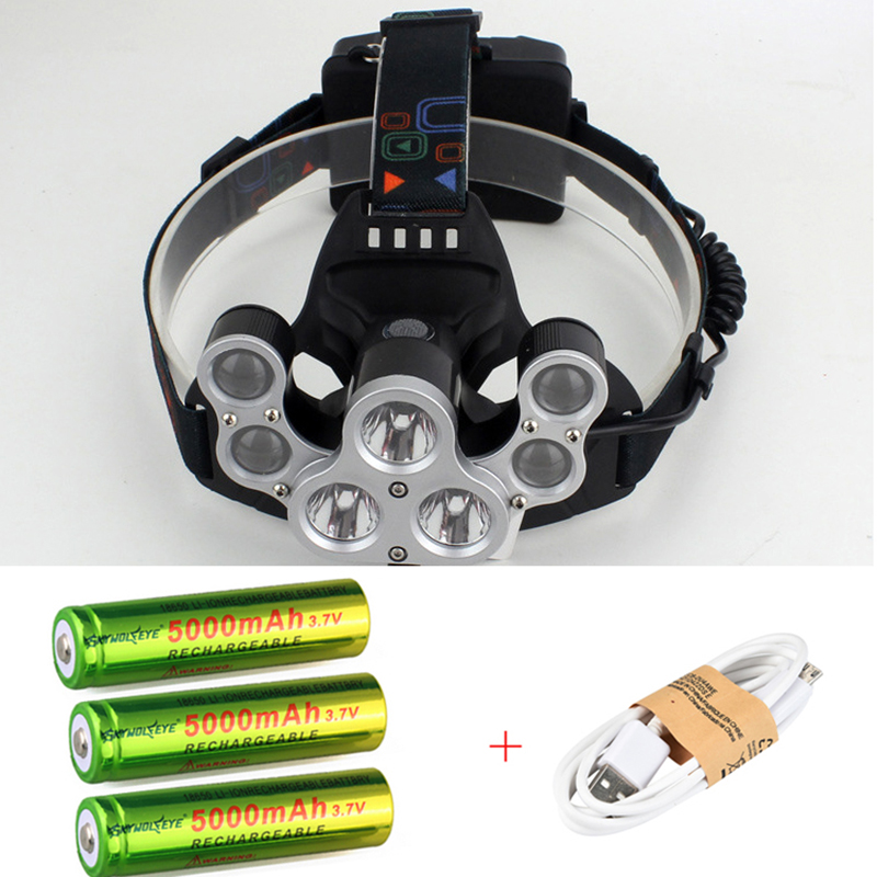 Adjustable 50000 Lumens 7 Led Headlamp 3* XML T6+4Q5 Head Lamp Flashlight USB Rechargeable Led Headlight 18650 Head Torch sitemap 146 xml page 7