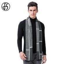 FS Echarpe Homme брендовый дизайнерский шерстяной кашемировый шарф мужские модные шали мужские классические деловые геометрические зимние теплые