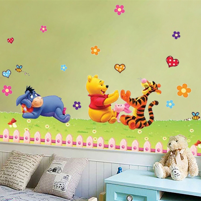 Winnie the Pooh bear tiger horse wall stickers for kids rooms ...