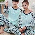 New Winter Flannel Couple Pajama Sets Adult Nightwear Cartoon Cute Pajamas Warm Sleepwear