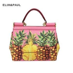 ELIM PAUL Lady Genuine Cow Leather Shoulder Bags Handbag 0d64759758ed2