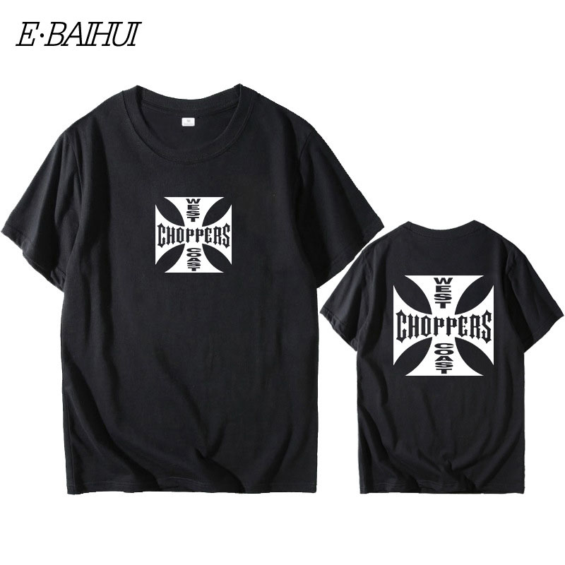 E-BAIHUI Fashion   T     Shirt   Men West Coast Choppers Print   T  -  Shirt   O-Neck   T  -  Shirt   Cotton Short Sleeve Summer Tops Tees W0158