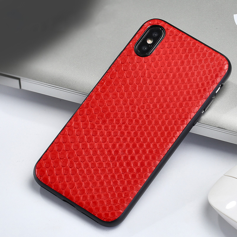 Genuine Leather fashion phone case for Samsung S10 Python skin personality For Samsung S8 S9 note 8 note 9 protective case