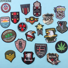 ZOTOONE Wild Militiry Patches on Clothing Stickers Embroidered Patch for Clothes Skull Stripe Badges Garment Applique