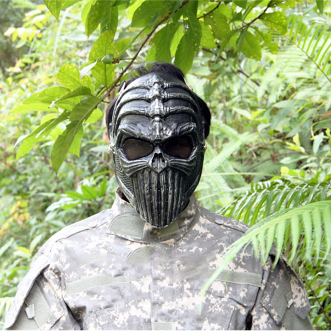 Overhead Skull Mask Outdoor Hunting Cs War Game Mask Skull Skeleton Airsoft Paintball Full Face Tactical Protective Mask 2019
