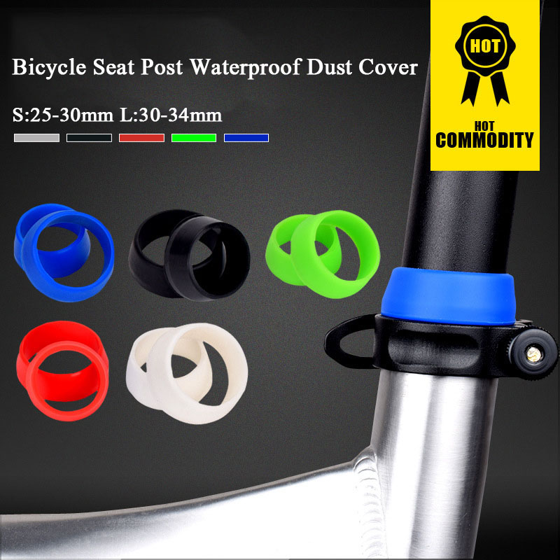 5 Colors Bicycle Cycling Silicone Seat post Seatpost Waterproof Dust Cover MTB Rubber Ring Bike Protective Ring
