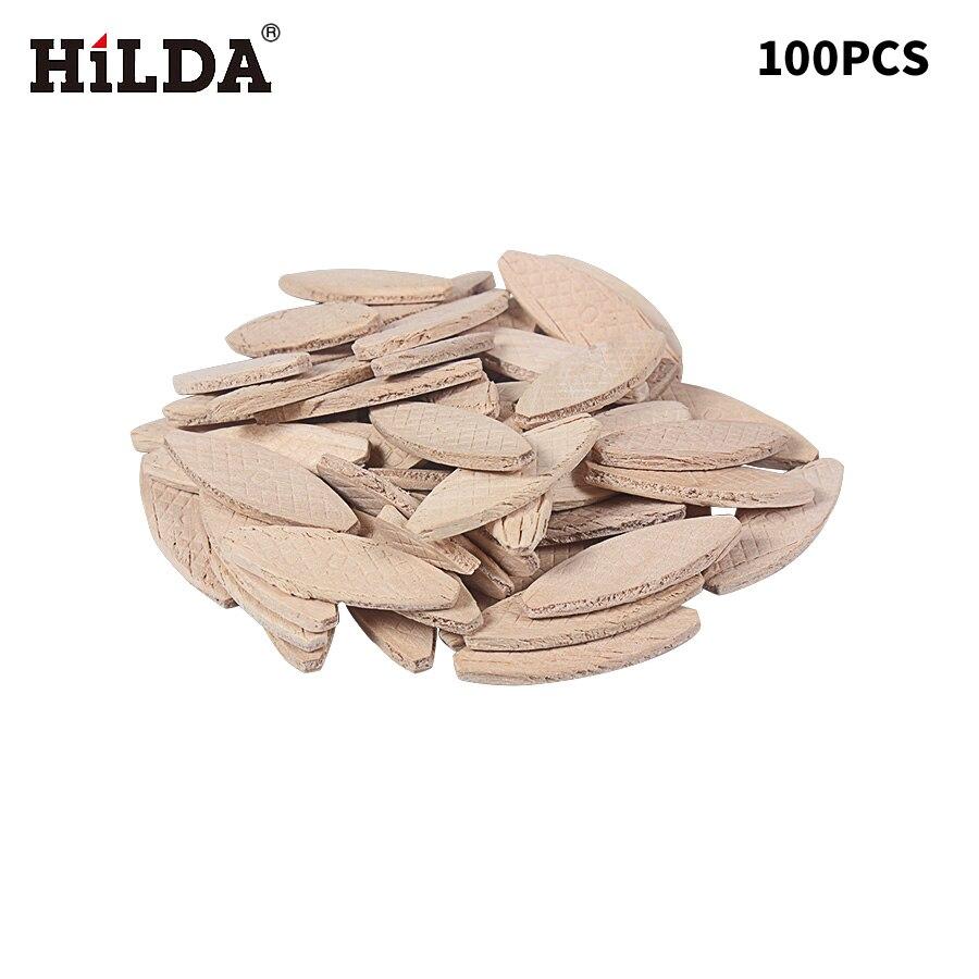 HILDA 100PCS No. 0# Assorted Wood Biscuits For Tenon Machine Woodworking Biscuit JointerHILDA 100PCS No. 0# Assorted Wood Biscuits For Tenon Machine Woodworking Biscuit Jointer