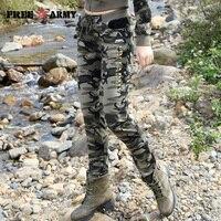 2017 Nova Primavera Mulheres Calças Slim Senhoras Calças Militares Do Exército Calças de Camuflagem Impressão Calças Cintura Elástica Moda Casual GK-9612