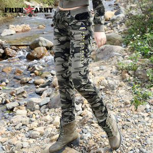 Image 2 - Brand New Spring Army Camouflage Pants Women Slim Pants Ladies Military Trousers Print Elastic Waist Fashion Casual Pants Female