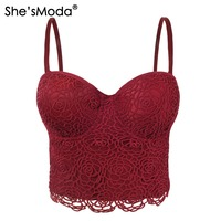 Sweet Floral Lace Push Up Bralet Women S Bustier Corset Wedding Party Corset Cropped Top Vest