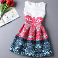 Women Summer Printing Flowers Bodycon Dress Party  Vintage A Line Sexy Casual Dress Bottoming  Dress Sleeveless Plus Size S-XXL
