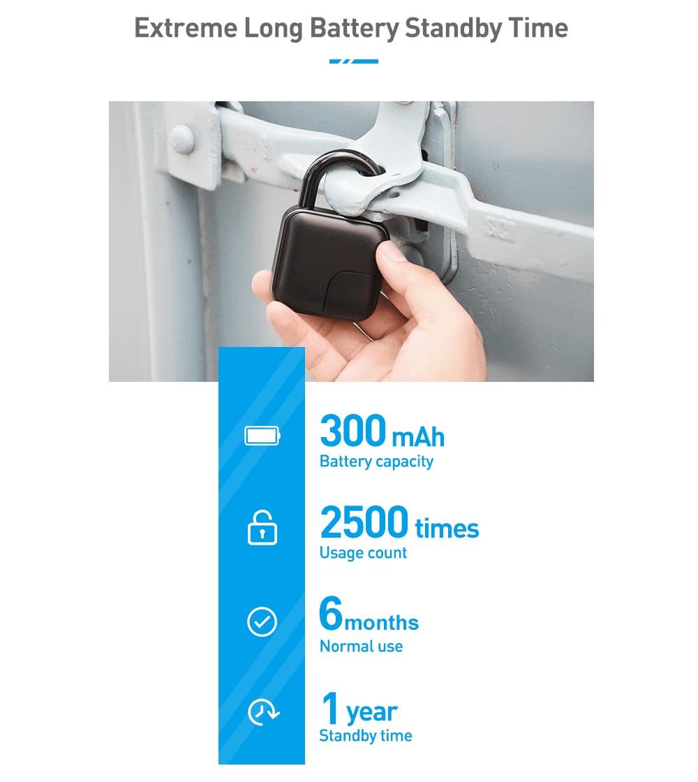 Έξυπνο λουκέτο με δακτυλικό αποτύπωμα ip65 msow