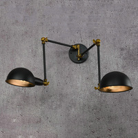 Loft Industrial Black Retro Wall Lamps Vintage E27 LED Sconce Adjustable Iron Wall Lights For Living