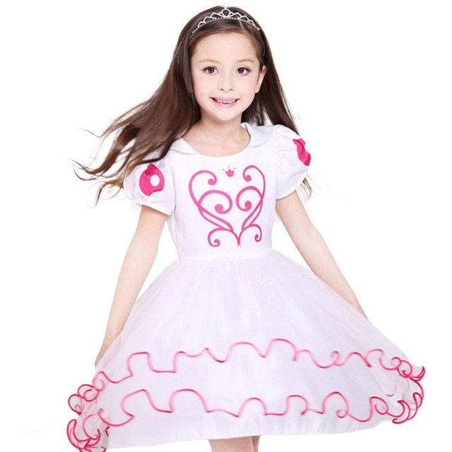 Kids Summer Princess Tutu Dress Birthday Party Semi Formal Party