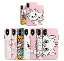 Cartoon Marie Cat pink kitty lovely cute Soft shell Case for iPhone 6 6Plus 6s 6sPlus 7 7Plus 8 8Plus X XS XR XS Max phone cover(China)